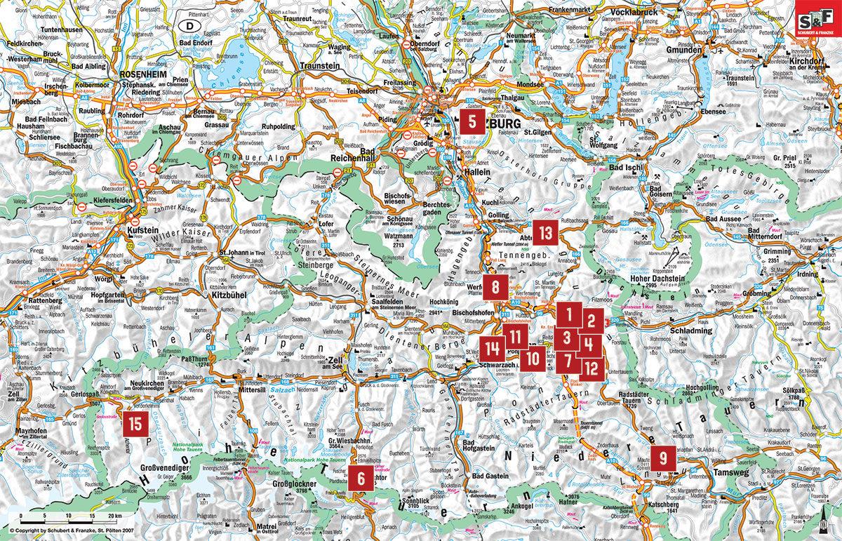 Auflugsziele Karte Tourismusverband Radstadt Schubert Franzke 1
