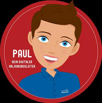 Button - Paul, digitaler Urlaubsbegleiter