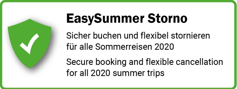 Easysummer Storno Radstadt Hinweis