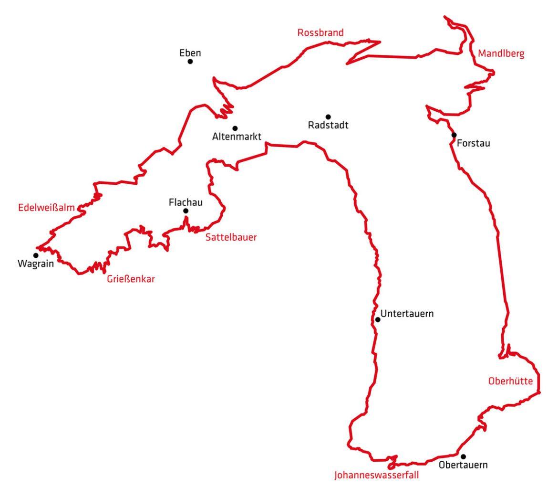 Streckenübersicht Stoneman Taurista 1