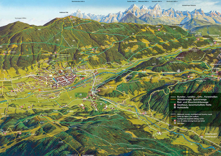 Wanderkarte Tourismusverband Radstadt Pointner 2